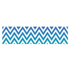 Blue Zig Zag Chevron Classic Pattern Satin Scarf (oblong)