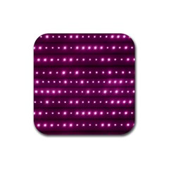 Galaxy Stripes Pattern Rubber Coaster (square)  by dflcprints
