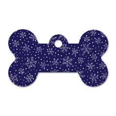 Pattern Circle Multi Color Dog Tag Bone (two Sides)