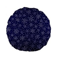Pattern Circle Multi Color Standard 15  Premium Flano Round Cushions