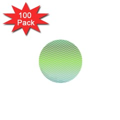 Green Line Zigzag Pattern Chevron 1  Mini Buttons (100 Pack)