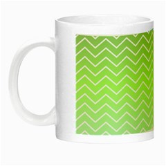 Green Line Zigzag Pattern Chevron Night Luminous Mugs