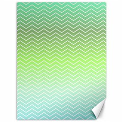 Green Line Zigzag Pattern Chevron Canvas 36  X 48
