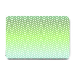 Green Line Zigzag Pattern Chevron Small Doormat