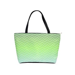 Green Line Zigzag Pattern Chevron Shoulder Handbags