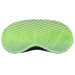 Green Line Zigzag Pattern Chevron Sleeping Masks