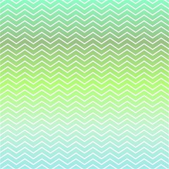 Green Line Zigzag Pattern Chevron Magic Photo Cubes