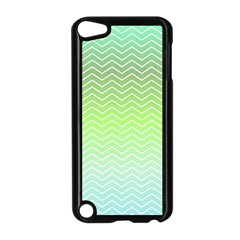 Green Line Zigzag Pattern Chevron Apple Ipod Touch 5 Case (black)