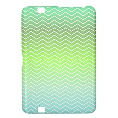 Green Line Zigzag Pattern Chevron Kindle Fire Hd 8 9