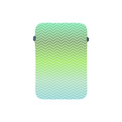 Green Line Zigzag Pattern Chevron Apple Ipad Mini Protective Soft Cases