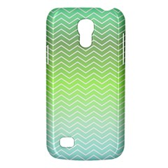 Green Line Zigzag Pattern Chevron Galaxy S4 Mini by Nexatart