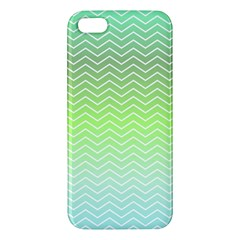 Green Line Zigzag Pattern Chevron Iphone 5s/ Se Premium Hardshell Case by Nexatart