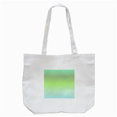 Green Line Zigzag Pattern Chevron Tote Bag (white) by Nexatart