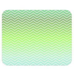 Green Line Zigzag Pattern Chevron Double Sided Flano Blanket (medium)  by Nexatart