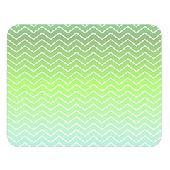 Green Line Zigzag Pattern Chevron Double Sided Flano Blanket (large)  by Nexatart