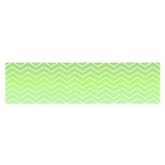 Green Line Zigzag Pattern Chevron Satin Scarf (oblong)