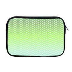 Green Line Zigzag Pattern Chevron Apple Macbook Pro 17  Zipper Case