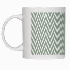 Vintage Pattern Chevron White Mugs