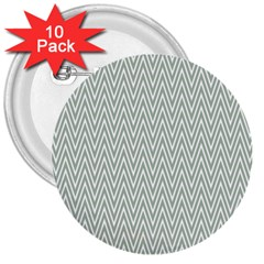 Vintage Pattern Chevron 3  Buttons (10 Pack)