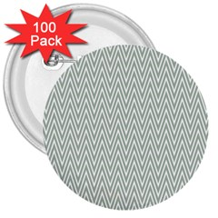 Vintage Pattern Chevron 3  Buttons (100 Pack)