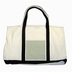 Vintage Pattern Chevron Two Tone Tote Bag