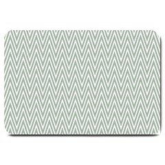 Vintage Pattern Chevron Large Doormat