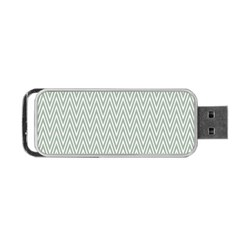 Vintage Pattern Chevron Portable Usb Flash (one Side)