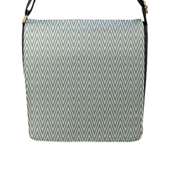 Vintage Pattern Chevron Flap Messenger Bag (l)