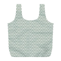 Vintage Pattern Chevron Full Print Recycle Bags (l)