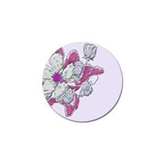 Bouquet Flowers Plant Purple Golf Ball Marker (10 Pack) by Nexatart