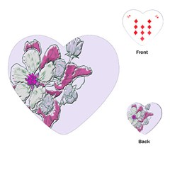 Bouquet Flowers Plant Purple Playing Cards (heart)  by Nexatart