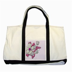 Bouquet Flowers Plant Purple Two Tone Tote Bag