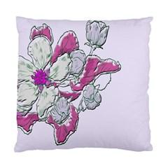 Bouquet Flowers Plant Purple Standard Cushion Case (one Side)