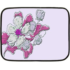 Bouquet Flowers Plant Purple Fleece Blanket (mini) by Nexatart
