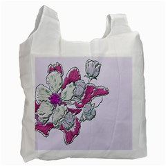 Bouquet Flowers Plant Purple Recycle Bag (one Side) by Nexatart