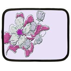 Bouquet Flowers Plant Purple Netbook Case (xl)  by Nexatart