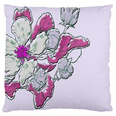 Bouquet Flowers Plant Purple Large Cushion Case (one Side) by Nexatart