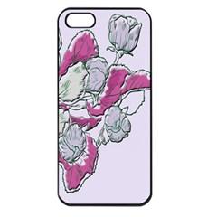 Bouquet Flowers Plant Purple Apple Iphone 5 Seamless Case (black)