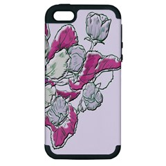 Bouquet Flowers Plant Purple Apple Iphone 5 Hardshell Case (pc+silicone) by Nexatart