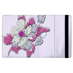 Bouquet Flowers Plant Purple Apple Ipad 2 Flip Case by Nexatart