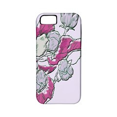 Bouquet Flowers Plant Purple Apple Iphone 5 Classic Hardshell Case (pc+silicone)