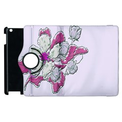 Bouquet Flowers Plant Purple Apple Ipad 2 Flip 360 Case by Nexatart