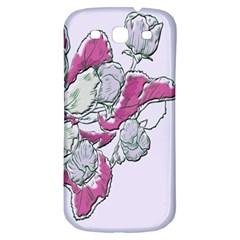 Bouquet Flowers Plant Purple Samsung Galaxy S3 S Iii Classic Hardshell Back Case
