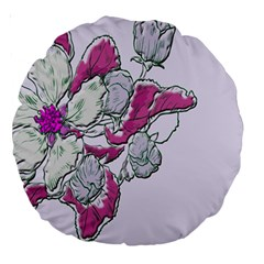 Bouquet Flowers Plant Purple Large 18  Premium Round Cushions by Nexatart