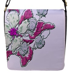 Bouquet Flowers Plant Purple Flap Messenger Bag (s)