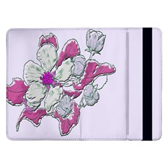 Bouquet Flowers Plant Purple Samsung Galaxy Tab Pro 12 2  Flip Case