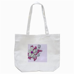 Bouquet Flowers Plant Purple Tote Bag (white)
