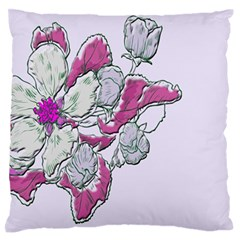 Bouquet Flowers Plant Purple Large Flano Cushion Case (two Sides)
