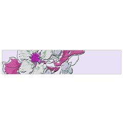 Bouquet Flowers Plant Purple Flano Scarf (small)