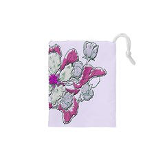 Bouquet Flowers Plant Purple Drawstring Pouches (xs)